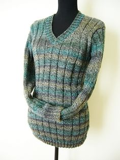 V-neck sweater, nice and warm