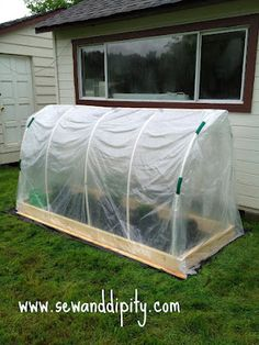 DIY Greenhouse for approx. $50    @Rachelle Jackson What about this one?