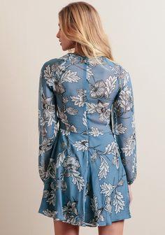 Sierra Mini Dress In Blue By For Love & Lemons | ThreadSence