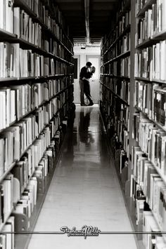 library engagement photo. YESSS!! Must have this shot!