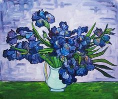 I love his art and this blue Iris Painting is no exception! Artist Van Gogh, Van Gogh Art, Art Van, Fleurs Van Gogh, Van Gogh Flowers, Vincent Van Gogh, Van Gogh Paintings, Paintings I Love, Moritz Von Schwind