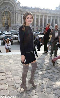 Vestido xadrez Olivia Palermo