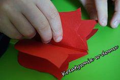 Tulipan z papieru w 5 minut | Kreatywnie w domu 3 D, Cards, Maps, Playing Cards