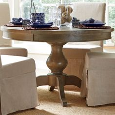Round Dining Table Extendable declan extendable dining table | home | pinterest | extendable