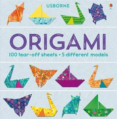 A tear-off pad of beautiful patterned and coloured paper plus instructions for making 5 different origami models.  #origami #paper #craft #inspiration #ideas #kit #pattern #usborne #activity #children #book