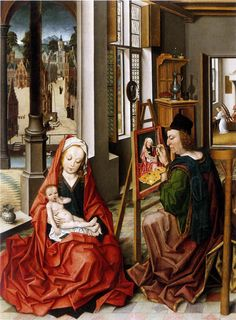 Baegert Derick, San Luca ritrae la Santa Vergine (1470), Westfalisches Landesmuseum.