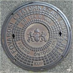 csatornafedél Bethlen utca - manhole cover Bethlen street - Budapest