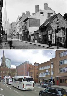 Most Lane Digbeth. 1900 and now. Birmingham City Centre, Walsall, Birmingham England, National Holidays, West Midlands, Yesterday And Today, Coaches, Interesting Stuff, Family History