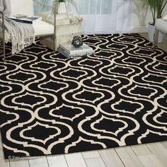 Jerida Black Rug, A Monochrome Black U0026 Cream 100% Wool Modern Rug (3