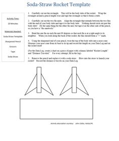 How To Make A Straw Rocket Launcher Instruction Template  Craft