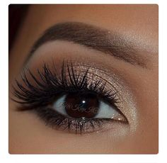 Homecoming eye look w/ false lashes