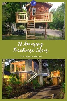 The treehouse seriously will be the favorite spot for your whole family. So, these are some of the best examples which range from simple to complex. #TSPHomeDecor #Treehouse