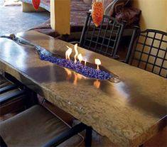 concrete fire table