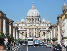 Via Conciliazione .. The main street that runs to the Vatican