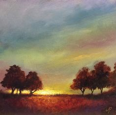 Autumn Sunset, Original Oil Painting Welsh Landscape by Jane Palmer by JanePalmerArt on Etsy Oil Paintings, Landscape Paintings, Landscapes, Sunset Art, Painting Videos, Canvas Board, Welsh, Barns, Folk Art