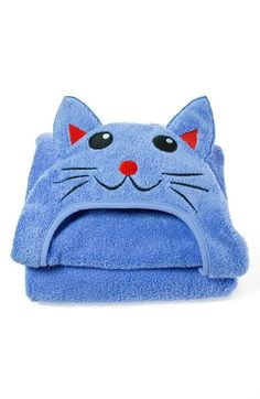 LITTLE ASHKIM 'Cat' Hooded Turkish Cotton Towel (Toddler) available at #Nordstrom