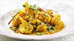 Blomkål i curry og kokos
