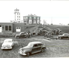 """#TBT #ThrowbackThursday Construction of the """"new"""" terminal. c.1950"""