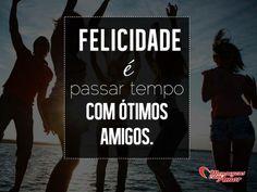 Felicidade á passar tempo com ótimos amigos. #felicidade #tempo #amigo #amizade