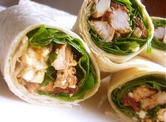 Ingredients list for Turkey Wraps with  Fresh Spinach & Feta Serves 4 : 6 large wheat tortillas (or 12 smalls) 1 cup (250ml)  vinegar, honey and mustard mix for the marinade 4 turkey scallops 7…