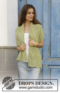Kalamua - Knitted stole with lace pattern. Piece is knitted in DROPS Alpaca and DROPS Kid-Silk. - Free pattern by DROPS Design