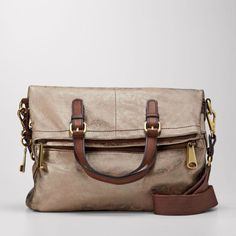 Fossil purse <3 love this slouchy purse.  In tan or pale yellow.