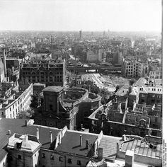 1947 Blick auf die zerstoerte Stadt.