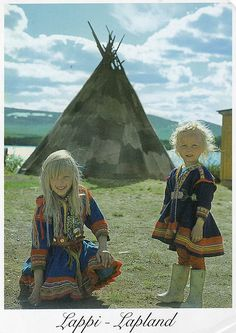 Now I know why I've always love tee-pees!  Lapland Traditional Costumes, Finland