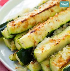 Garlic Lemon and Black Pepper Parmesan Oven Roasted Zucchini