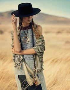 Ondria Hardin by Boo George for Vogue Japan May 2014 - hmmm, global cowgirl?