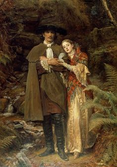 Sir John Everett Millais P.R.A. (1829-1896) The Bride of Lammermoor. 1878. Millais was one of five members of The Artists Rifles who was also elected President of the Royal Academy.