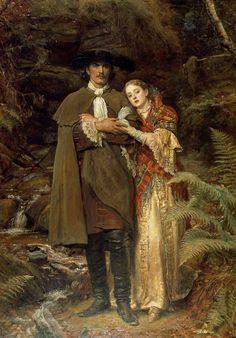 """""""The Bride of Lammermoor""""  -   John Everett Millais"""