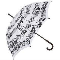 musical themed black and white umbrella | BEBE...NA CARONA DAS ONDAS E DO VENTO...: Junho 2010