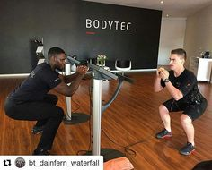 Squat challenge with trainer with Bodytec Dainfern and Waterfall #Bodytec #bodytecsa #ems #emstraining #training #fitness #flex #strength #power #fitfam #lifestyle #20mins #active #workout #fit #motivated #noexcuses #abs #squats #transformation #bodygoals #personaltrainer #like #team #muscle #fitgoals #bodygoals #getfit #gethealthy #motivation #inspiration #trainsmarter