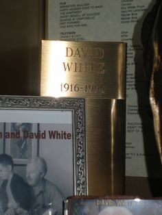"David White (1916 - 1990) he achieved his greatest fame as the unctuous Larry Tate on the hit TV series ""Bewitched"" (1964)."