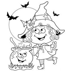 24 Free Halloween Coloring Pages for Kids: Add Numbers and a Key for Number Recognition!