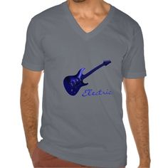 Electric Blues ~ Electric Blue Guitar Music T-Shirt. An electric blue guitar and the word electric in matching blue script. The text is a template field, so if you like the guitar but want it to say something different you can fill in anything you like. A great gift for your favorite guitar player, musician or music lover.    #music  #guitar  #blues