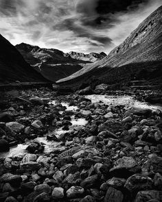 THE TRAVEL COLLECTION, black and white photograph, Austria, Ötztal valley,