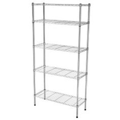 HDX 36 in. x 72 in. x 14 in. Wire Home Use Shelving Unit at The Home Depot - Mobile. great thin wire shelf for pantry storage. Garage Shelving Units, Steel Shelving Unit, Heavy Duty Shelving, Pantry Shelving, Shelves, Shelving Ideas, Pantry Storage, Home Depot, Butler