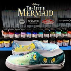 Insides of The Little Mermaid Custom Vans :) #Vans #LittleMermaid #Custom #Shoes #Disney #Art #Illustration #Illustrations #CharacterDesign