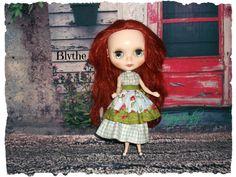 Blythe or Tangkou 50's Style OutfitBlue Dress and by KarynRuby, $38.00