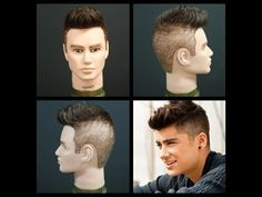 ▶ Zayn Malik Haircut Tutorial of One Direction - YouTube