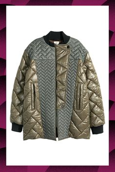 H&M Quilted bomber jacket H&m Jackets, Fall Jackets, Line Jackets, Jackets For Women, Outerwear Jackets, Nylon Bomber Jacket, Khaki Jacket, Elisa Cavaletti, Padded Jacket