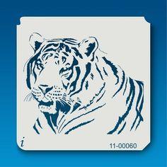 11-00060 Tiger Tattoo Stencil