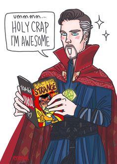 Doctor Strange reading Doctor Strange  ♥  By the amazing enerjax