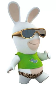 LAPIN CRETIN Minions, Rabbits, Humour, Bunny, Madness, Fimo, Gaming, Children, Humor