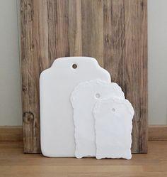 Small Danish ornate ceramic chopping board