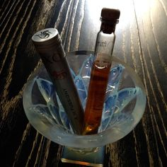 #goldsmilesbysilver #midday cognac  Alain Roger (#alainroger) is a #master of blend of #fussigny cognac ... #cigarlike tube within a #cigar tube... 50% #grande champagne cognac