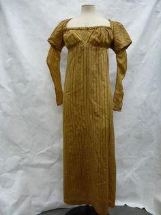 Dress Great Britain, Uk  ca. 1805 (made) Woven silk