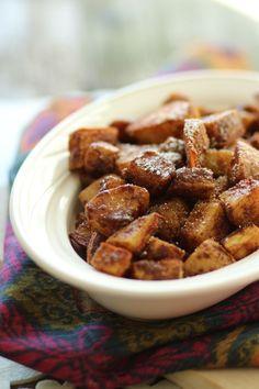 #paleo #paleomg Cinnamon Sugar Coated Sweet Potatoes - perfect last minute dish during the holidays!
